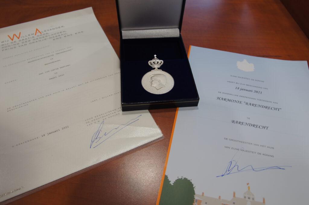 Koninklijke Erepenning voor Harmonievereniging Barendrecht